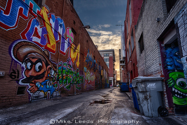 Alley art in Boise Idaho on a cold December Morning.